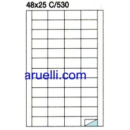 Etichette Foglio A4  48x25...