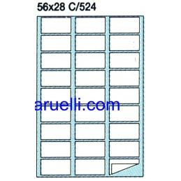 Etichette Foglio A4  56x28...