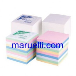 Cubo in Carta Bianco per Note