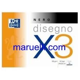 Blocco Oxford X3 24X33 Nero