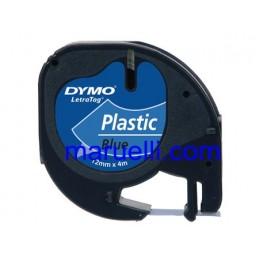Cart Dymo Letr Plast 12x4 Blu